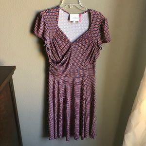 Leota Dress geometric print dress Stitchfix sz L